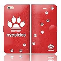 iPhone6SPlus iPhone6Plus 手帳型 ケース カバー NYASIDES ニャシデス K ハート アニマル ワンポイント 面白い 猫 ネコ ねこ