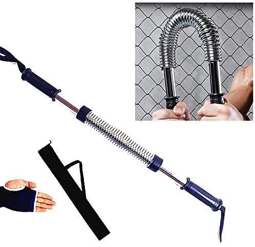 DGL Galvanotechnik Federgriffe Arm-Stärke Brawn Trainingsgerät + Handschutz + Aufbewahrungstasche Set (weiß) Fitnessgeräte-Arm-Stärke 50kg Muskelrolle (Farbe: weiß)