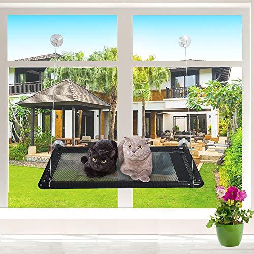 Seggiolino per gatto | amaca per gatto | amaca per gatto dal vento | capacità di carico massimo 31 kg | inclinabile per finestra per gatto quadrato