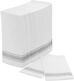 Exquisite 100 Count White And Colorrname Bulk Pack Classic Paper Linen Like Napkins, Guest Bathroom Hand Towels Disposable...
