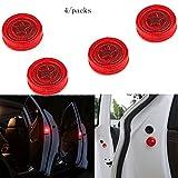 Aviso de puerta de coche abierta con luz roja estroboscópica intermitente LED para abrirlas con seguridad.Luces LED reflectoras y magnéticas,impermeables instantáneo ON/OFF anticolisión (4 unidades