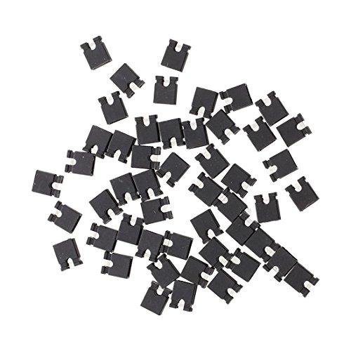 SODIAL (R) 50 Stueck 2,54 mm Stecker Bruecke Mini Jumper Steckverbinder