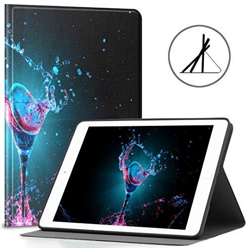 Custodia protettiva per iPad 9.7 Cocktail colorato in vetro adatto per cocktail 2018 2017 iPad 5,7   6a generazione Custodia impermeabile per iPad 9.7 adatta anche per iPad Air 2   iPad Air