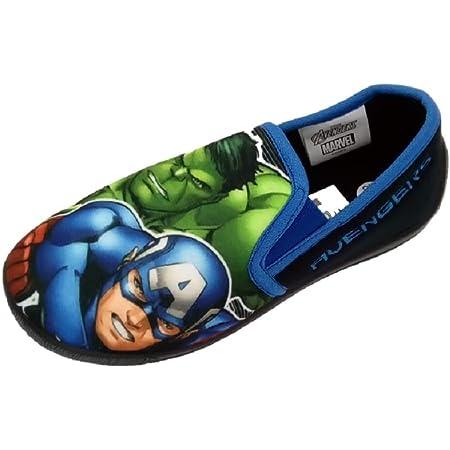 Marvel Avengers Boys Slippers Size 12-13 Soft Sole Slip On New
