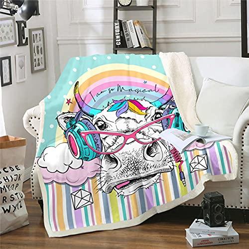 Manta de felpa de vaca de Highland para niños, niñas, música de rock, hip hop, manta difusa para sofá cama, bebé de 30 x 40 pulgadas