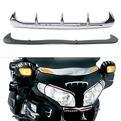 Accesorios de decoración de coches GL1800 Gold Wing Motrocycle decoración de piezas de carenado de la cucharada de salida de aire del conducto Ajuste cabido for Honda Goldwing GL 1800 2001-2011 Chrome