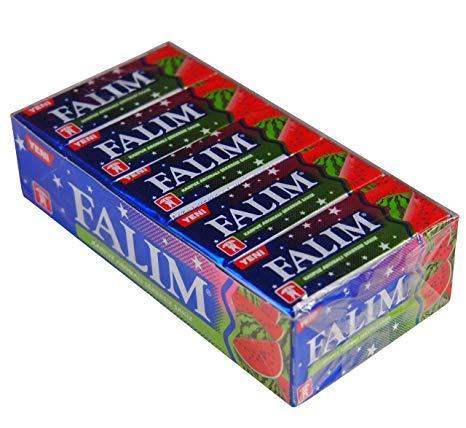 Falim Kaugummi mit Melonenraroma ohne Zucker - Karpuz aromali sekersiz sakiz (20 x 5 Stück/140g)