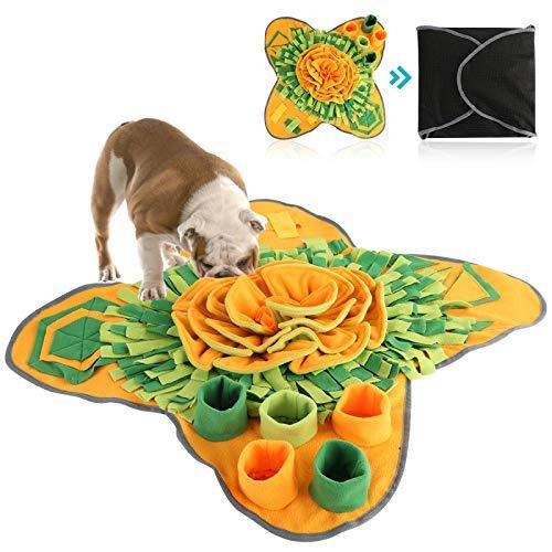 WWWL Camas para perros 71 cm x 71 cm Pet Snuffle Mat Perro de alimentación lenta Mat lavable Foraging Training Puzzle Mat para cachorros