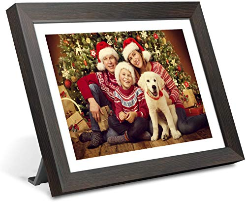 Smart WiFi Digital Picture Frame,10 inch IPS Touch Screen HD LCD Display,1280x800 Resolution,16GB Storage,Auto-Rotate,Share Photos and Video via App at Anytime and Anywhere,Support USB & Micro SD card Digital Frames Picture