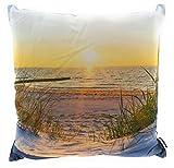 Outdoor Deko-Kissen Sonnenuntergang Nordsee Couch Sofa Lounge Zierkissen Garten Terrasse Urlaub...