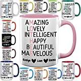 Custom Father's Day Coffee Mugs - Personalized Mother's Day Cups - Gift for Mom, Dad, Grandma, Grandpa - 11 & 15 oz
