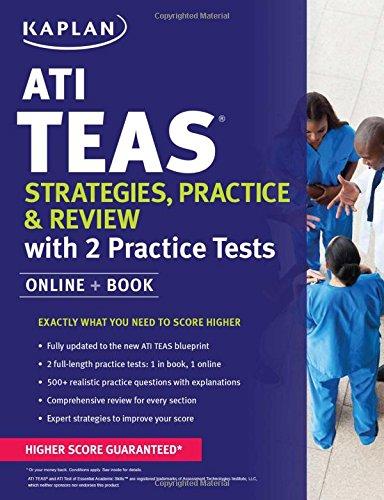 ATI TEAS Strategies  Practice & Review with 2 Practice Tests: Online + Book (Kaplan Test Prep)