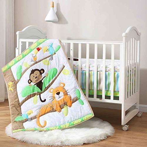 ABCs with Gizzie Full Crib Bumper Gender Neutral Yellow Green Orange Animal Alphabet Theme  Crib Bedding Free Personalization
