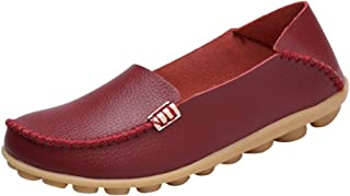 Fashion Brand Best Show Womens Leather Loafers Casual Round Toe Moccasins Wild Driving Flats Shoes