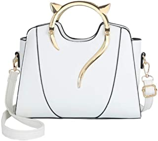 XPTW Damentasche One-Shoulder-Handtasche Neue katzenförmige Hardware-Mode-Persönlichkeit Vielseitig