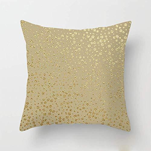 JUYOU Kussen Covers goud kleur vloeiende gouden elementen Flow vierkante gooi kussensloop kussensloop sofa home sofa/slaapbank/slaapkamer decoratieve kussensloop 18x18 inch Aanpasbaar T4