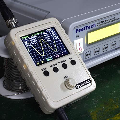 Quimat - Kit de osciloscopio digital TFT Shell de 2,4' con cable BNC Clip para eliminar sonda Open Source SMD y cañones (montado a máquina)