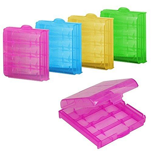 Demarkt 5 Boîte Case Stockage Plastique Batterie Pile AA AAA Rangement Accus Couleur aléatoire