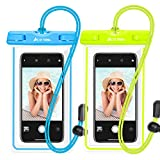 Ace Teah Waterproof Phone Pouch, IPX8 Universal Waterproof Phone Case Underwater Dry Case Bag for iPhone X/8/8plus/7/7plus/6s/6/6s Plus Samsung Galaxy s8/s7 Google Pixel HTC10, 2 Pack