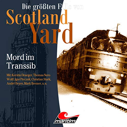 Mord im Transsib     Die größten Fälle von Scotland Yard 38              De :                                                                                                                                 Paul Burghardt                               Lu par :                                                                                                                                 Kerstin Draeger,                                                                                        Thomas Nero Wolff,                                                                                        Igor Pieczak,                   and others                 Durée : 58 min     Pas de notations     Global 0,0