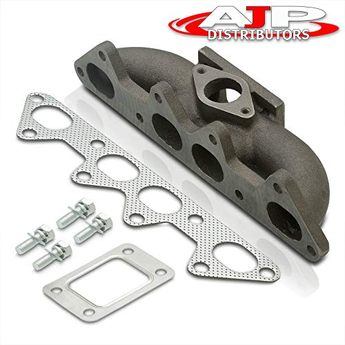 AJP Distributors Racing Performance T3/T4 Flange Turbo Charger Exhaust Manifold Compatible/Replacement For Accord F22 F22B JDM 4Cyl Sohc