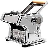 WERTY Pasta Cafetera, Pasta eléctrico fabricante de la máquina con el conjunto de motor de acero inoxidable Pasta máquina de rodillos para Fresh espaguetis y lasaña tallarines Fettuccine 220V