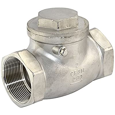 """Stainless Steel SS316 NPT 2"""" Swing Check Valve WOG 200 PSI PN16 CF8M by DOT"""
