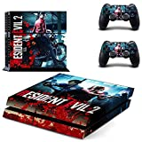 PS4 Console and 2 Controller Vinyl Skin Cover Set Protective Playstation 4 Gaming - Resident Evil 2 Game by Mr Wonderful Skin