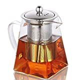 Glass Teapot with Infuser,820ML/29OZ Borosilicate Tea Kettle with Infuser for Loose Leaf Tea,...