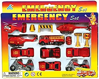 Oasis Supply Fire Team & Emergency Rescue Cake Topper Kit - 15 pcs