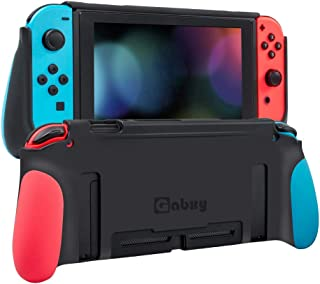 Protective Case for Switch,Dockable Cover Case for Switch,Grip Cover in Silicone with Anti-Scratch and Shock-Absorption So...