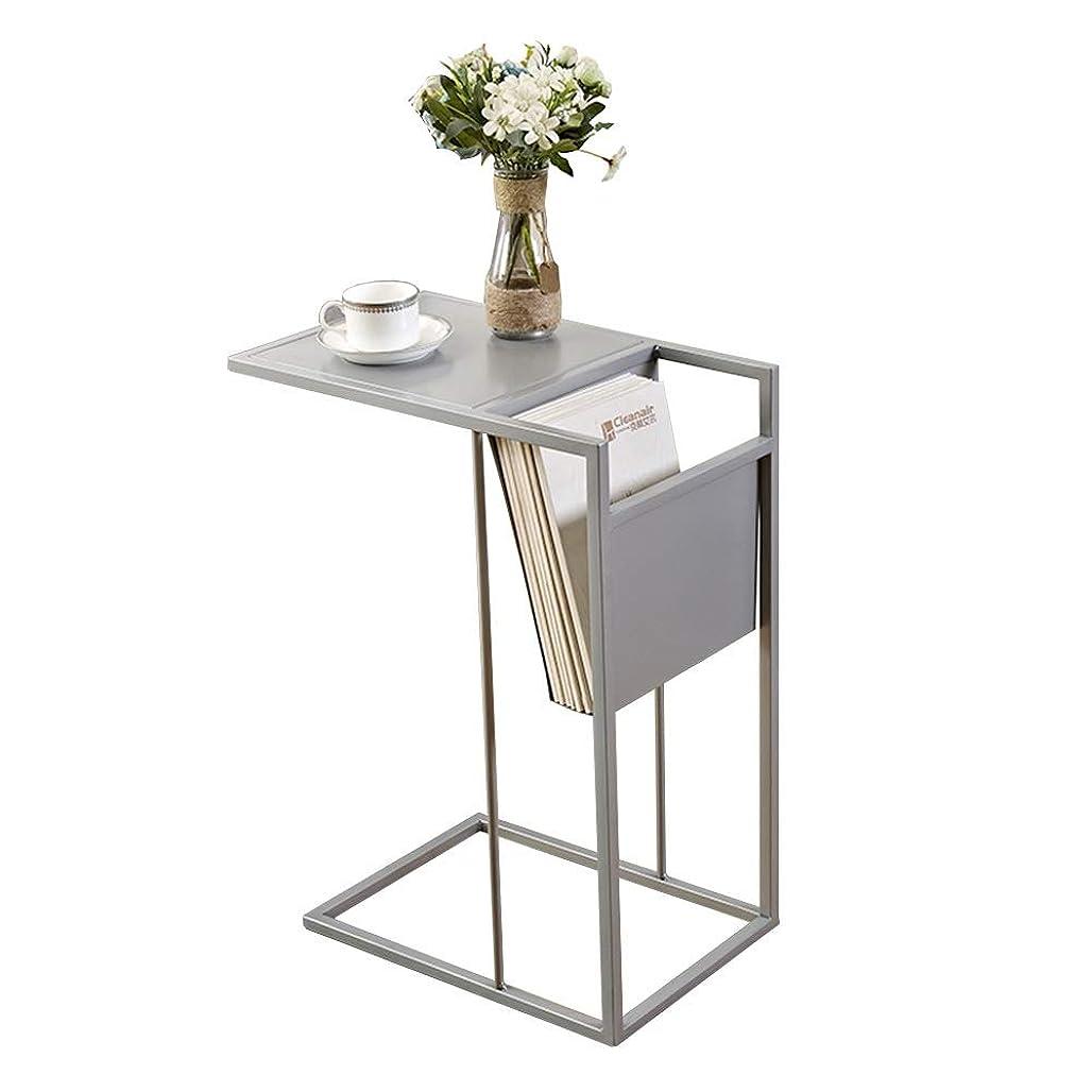 血統宣言する腐ったAxdwfd 折りたたみ式テーブル デスクトップメタルネスティングリビングルームソファサイドリビングルームベッドルームコンピュータデスク (Color : Silver)