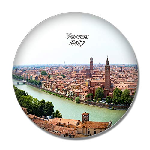 Imán de nevera 3D de Italia Verona para pizarra blanca con cristal de recuerdo