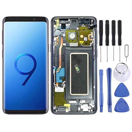 DELANSHI Compatibel met Samsung Galaxy S9 Onderdelen LCD-scherm en Digitizer Volledige montage Met Frame telefoon Vervangende onderdelen, Grijs