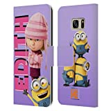 Head Case Designs Ufficiale Despicable Me Edith La Famiglia di Gru Cover in Pelle a Portaf...