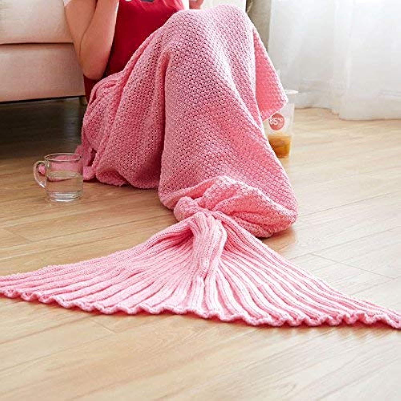 JINGB Home Mermaid Knit Mermaid Tail nap Sofa, Green Plum, 180  80cm (71  31.5 inch) (color   bluee Purple, Size   180  80cm)