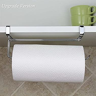 Pano Updated Size Paper Towel Holder Under Cabinet Stainless Steel Paper Rolls Rack Organizer 11.8  x 2.7  x 3.54