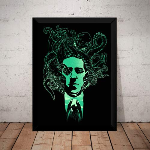 Quadro Decorativo H. P. Lovecraft Arte Cthulhu Terror Horror