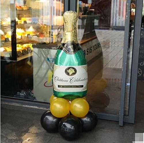 globos Copa de vino de champán Botella de whisky Globo de aluminio con globo de látex para cumpleaños Boda Fiesta de aniversario Aluminiuml Balloon-G