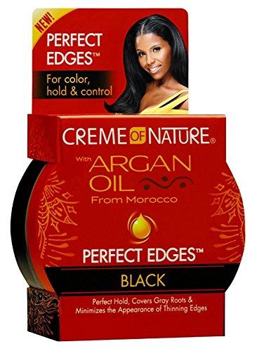 Creme of Nature Crème de Nature Huile d'Argan parfait Edges Noir 2,25 oz (6 Pack)