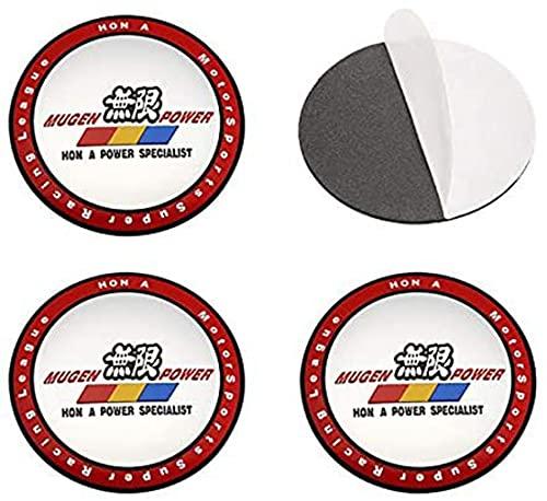 4 Tapas Centrales De Rueda, Tapacubos, CalcomaníA Con Emblema De Tapa Central De Rueda De AleacióN, Para Mugen Accord Civic CRV Crosstour H-RV Nsx Pilot Odyssey Crz 56mm