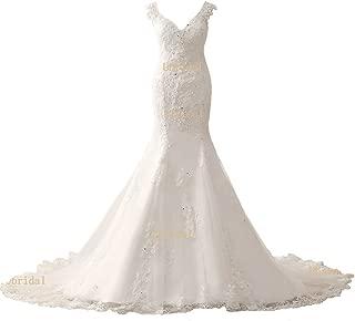 lace court train wedding dress
