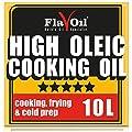 Huile de cuisson FlavOil riche en acide oléique 10 litres — Huile végétale saine hautement performante pour les rôtis, les fritures, les plats au four et les vinaigrettes
