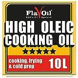 Nueva botella de aceite de girasol con alto contenido en ácido oleico de FlavOil - Aceite de girasol saludable ideal para freír, cocinar y preparar en frío (10L)
