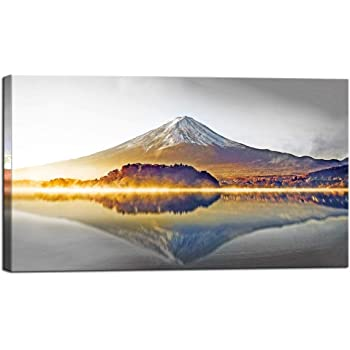 Japanese Mountain Painting Landscape Wall Art Large Poster /& Canvas Pictures