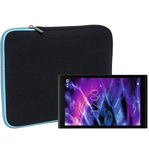Slabo Tablet Tasche Schutzhülle für Medion Lifetab S10352 (MD 99482) Hülle Etui Hülle Phablet aus Neopren – TÜRKIS/SCHWARZ