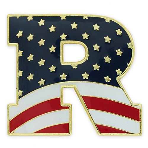 PinMart American Flag Republican Party Patriotic Enamel Lapel Pin