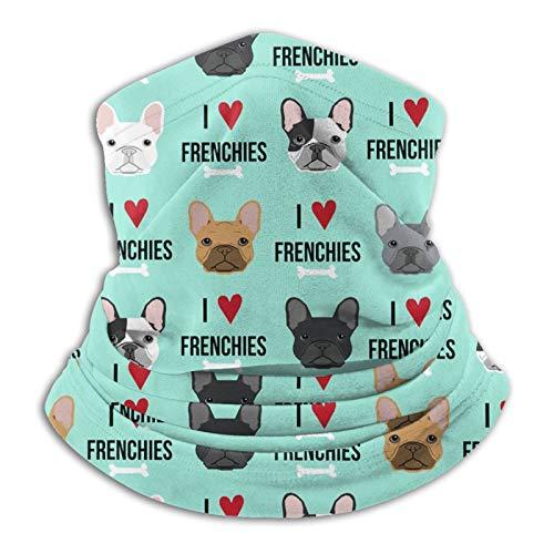Frenchie Dog Unisex Outdoor Windproof Dust-Proof Neck Warmer Sports Face Mask Bandana Balaclava