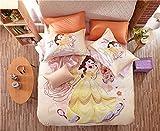 Lvvsovs 3D lecho de Imprimir Duvet Cover Set 180 x 200 cm bedcloth con la Funda de Almohada Juego de Cama Textiles for el hogar Individual Doble Rey Queen Size Chica Princesa de Dibujos Animados ani