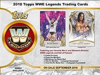 2018 Topps WWE Legends OF WWE Wrestling Hobby Box - 12 packs of 5 cards each